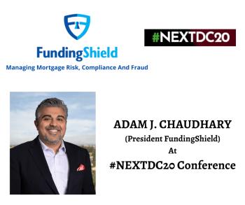 President Adam J. Chaudhary presenting FundingShield at #NEXTDC20